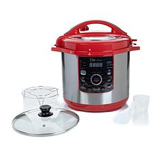 Elite 8qt 16-Function Pressure Cooker with Rack and Lid