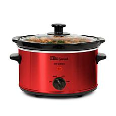 Elite Gourmet 2-Quart Oval Slow Cooker
