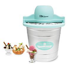 Elite Gourmet 4-quart Old Fashioned Bucket Electric Ice Cream Maker