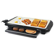 "Elite Gourmet Non-stick Electric 18"" Griddle with Warming Drawer"