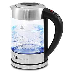 Elite Platinum 1.7L Electric Programmable Cordless Glass Kettle
