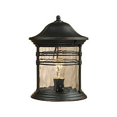 "ELK Lighting 16"" Madison Black Outdoor Post Light"