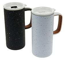 Ello 2-pack 18 oz. Vacuum-Insulated Stainless Steel Campy Cups