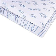 Ely's & Co. Jersey Cotton Crib Sheet Set 2-pack