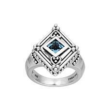 Elyse Ryan Sterling Silver Sky Blue Topaz Ring