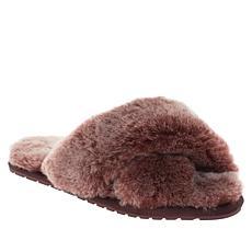 EMU Australia Mayberry Frost Fluffy Sheepskin Slider Slipper