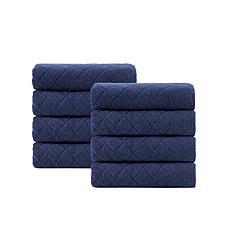Enchante Home Gracious 8-piece Turkish Cotton Hand Towel Set