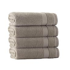 Enchante Home Monroe Set of 4 Turkish Cotton Bath Towels