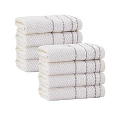 Enchante Home Monroe Set of 8 Turkish Cotton Wash Cloths