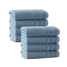 Enchante Home Veta Set of 8 Turkish Cotton Hand Towels