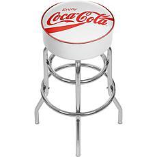 Enjoy Coca-Cola White Pub Stool