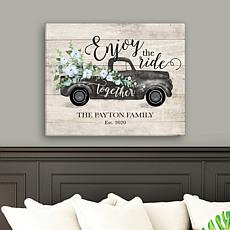 Enjoy The Ride Together Personalized 16x20 Canvas