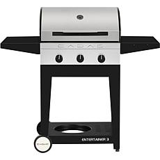 Entertainer 3 Propane Grill w/3 Burners + Open Cart w/Tables & Storage