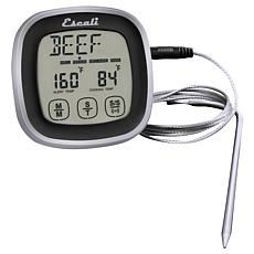 Escali DHR1-B Touch Screen Thermometer and Timer - Black