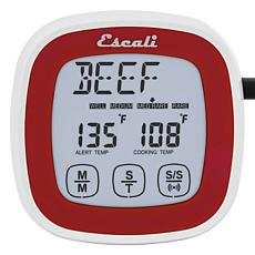 Escali DHR1-R Touch Screen Thermometer and Timer - Red