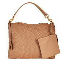 Etienne Aigner Irena Woven Leather Hobo Bag