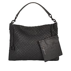 Etienne Aigner Irena Woven Leather Hobo Bag