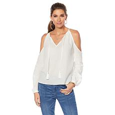 Eva Longoria Sleeveless Ruffled Cairo Blouse