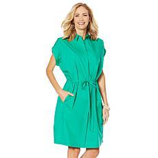 Evryday Jane Zoie Button Front Shirt Dress