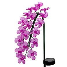Exhart Solar LED Spinning Flowers Garden Stake