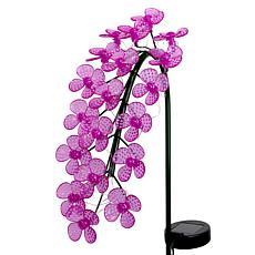 Exhart Solar LED Spinning Flowers Garden Stake