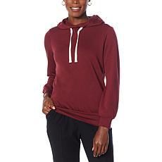 EZ by Nina Leonard French Terry Hooded Lounge Sweatshirt