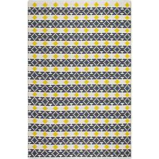 Fab Habitat Westminster Yellow/Gray Cotton Indoor Rug - 2' x 3'