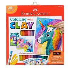 Faber-Castell Do Art Coloring with Clay Unicorn and Friends kit