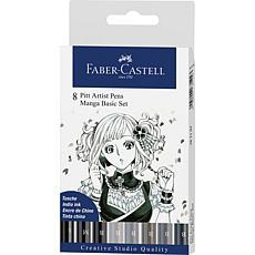 Faber-Castell Manga Pen Sets Manga Basic - 8 Pieces