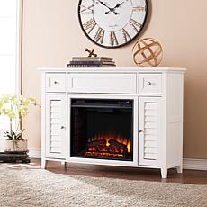 Fairbury 3-in-1 Electric Fireplace Media Console - White
