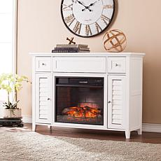 Fairbury 3-in-1 Infrared Fireplace Media Console - White