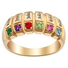 Family Name Crystal Ring