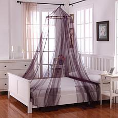Fantasy Round Hoop Sheer Mosquito Net Bed Canopy - Purple
