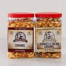 Farmer Jon's 2-pk 16oz Caramel and Cookies & Cream Popcorn Auto-Ship®