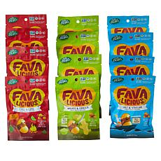 Favalicious 12-pack Assorted Fava Bean Snacks