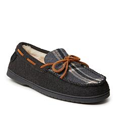 Fireside by Dearfoams Men's Grafton Microwool and Shearling Moccasin