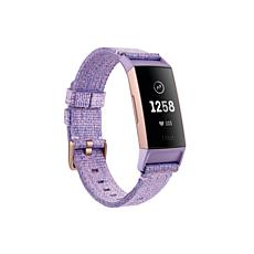 Fitbit Charge 3 Special Edition Woven Heart Rate and Fitness Tracker
