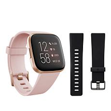 Fitbit Versa 2 Pink Smartwatch with Small Extra Band