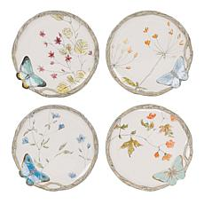 Fitz and Floyd Butterfly Fields Brunch Plate - Set of 4