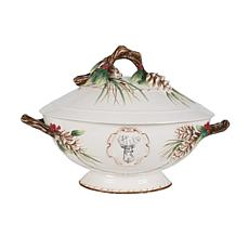 Fitz and Floyd Forest Frost Tureen And Ladle Set