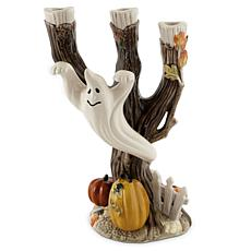 Fitz and Floyd Halloween Harvest Ghost Candleholder