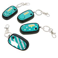 Flipo Micro Guard Key Chain, Light and Alarm 4-pack
