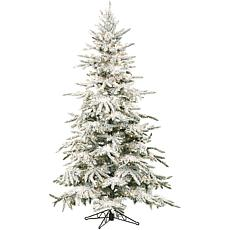 Flocked Mountain Pine 7-1/2' Christmas Tree