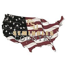 Florida State University USA Shape Flag Cutout