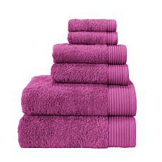 Flossy Turkish Cotton 6-piece Towel Set