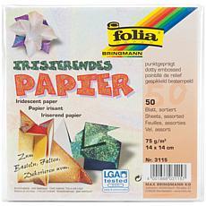 Folia Origami Paper Textured Iridescent 50-pack