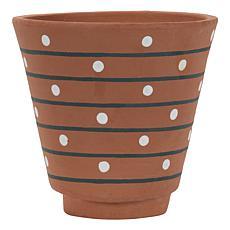 Foreside Home & Garden Natural Handthrown Terracotta Boho Planter