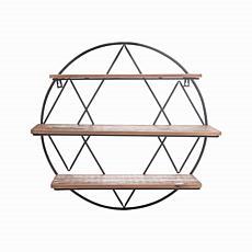 "Foreside Home & Garden Round 20.25"" Three-Tier Hanging Wall Shelf"