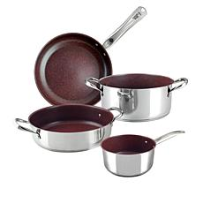 Forged in Fire 4-piece Stainless Steel Cookware Set