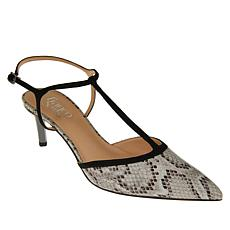 Franco Sarto Jubilant Leather Snake T-Strap Pump